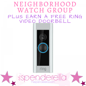 FREE Neighborhood Watch Group + Earn FREE Ring Video Doorbell Camera + $50 Promo Code